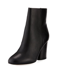 Neiman Marcus Niana Smooth Leather Bootie Black