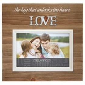 Unlock The Heart With Love Faux Wood Photo Frame