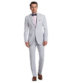 Executive Collection Traditional Fit Stripe Seersu