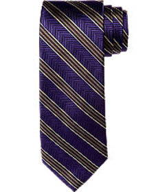 Reserve Collection Herringbone Stripe Tie -Long CL