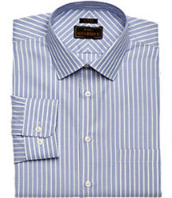 Reserve Collection Tailored Fit Spread Collar Stri