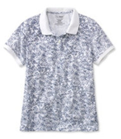 Premium Double L Polo, Relaxed Fit Floral