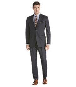 Signature Collection Traditional Fit Stripe Suit -