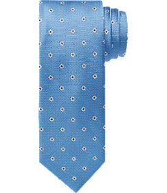 Traveler Collection Floral Dot Tie - Long CLEARANC