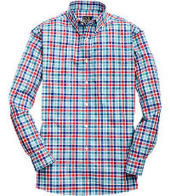 Traveler Collection Traditional Fit Plaid Sportshi