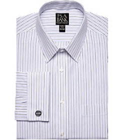 Traveler Collection Tailored Fit Point Collar Stri