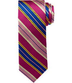 Signature Gold Collection Stripe Pattern Tie CLEAR