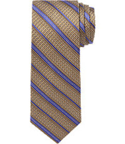 Signature Gold Textured Stripe Tie CLEARANCE