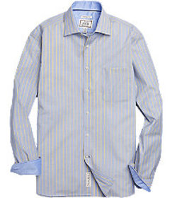 1905 Collection Tailored Fit Spread Collar Plaid S