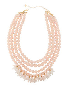 Lydell NYC Multi-Row Beaded Statement Necklace w/