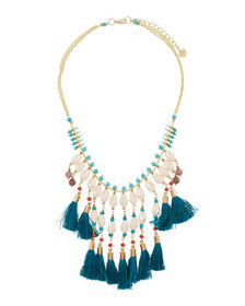 Nakamol Multi-Tassel Pearly Statement Necklace