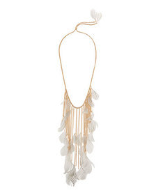 Lydell NYC Feather Statement Necklace