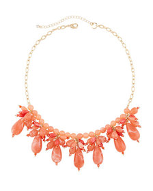 Lydell NYC Multi-Drop Crystal Statement Necklace