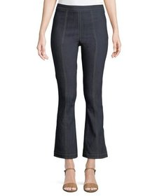 cinq a sept Tinsley Side-Zip Flare-Leg Jeans