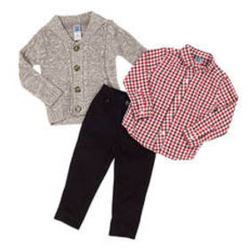 Baby Boy (12-24M) Little Lad 3pc. Cardigan and Pan