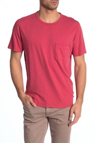 7 For All Mankind Crew Neck Pocket Short Sleeve Te