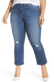Seven7 High Rise Crop Flare Jeans (Reeves) (Plus S