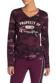Champion Authentic Camo Long Sleeve Tee