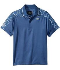 Lacoste Short Sleeve Shoulders Print Djoko Polo (L