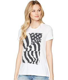 Lucky Brand Flag Ruched Back Tee