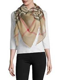 Lord & Taylor Exploded Fraas Plaid Scarf CAMEL