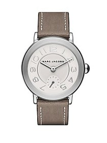 Marc Jacobs Riley Leather Strap Watch TAUPE