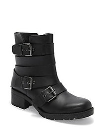 Me Too Jonni Strappy Leather Boots BLACK
