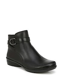 Naturalizer Collette Leather Ankle Boots BLACK