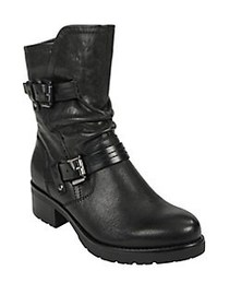 Earth Talus Leather Booties BLACK