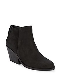 Eileen Fisher Rove Leather Booties BLACK