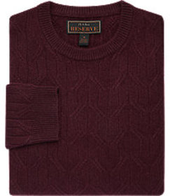 Reserve Collection Tailored Fit Wool Blend Crew Ne