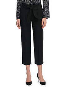 Signature Paperbag Pant in Two Way Spandex Twill