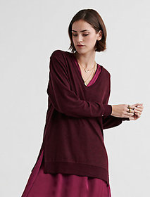 Cloud Jersey V Neck Tunic
