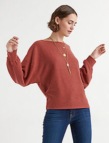 Cloud Jersey Ribbed Dolman Pullover