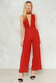 Deeps and Bounds Plunging Jumpsuit