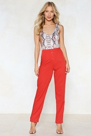 Button Up to No Good High-Waisted Pants