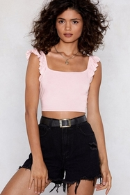 Crops and Robbers Ruffle Crop Top