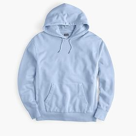 Garment-dyed french terry hoodie