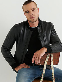 Clean Leather Bomber
