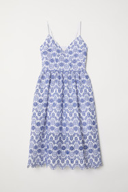 Dress with Eyelet Embroidery
