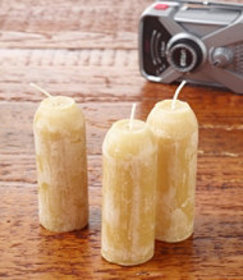 Uco Candle Lantern Beeswax Candles, 3-Pack