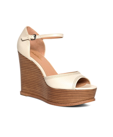 Tumbled Calfskin Stacked Wedges