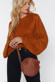 WANT Weave It Out Circle Bag