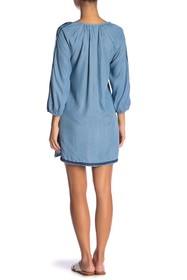 Tommy Bahama Embroidered Chambray Cover-Up Tunic