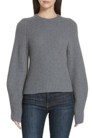 Theory Sculpted Sleeve Shaker Stitch Merino Wool S