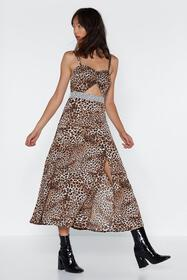Heat of the Meow-ment Leopard Dress