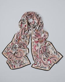 Paisley-Print Oblong Scarf
