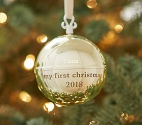 Personalized Music Ball Ornament