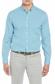 Cutter & Buck Classic Fit Gingham Non-Iron Sport S