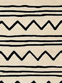 Safavieh Zigzag Hand Tufted Wool Rug IVORY BLACK